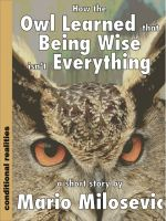 Cover for 'How the Owl Learned that  Being Wise isn't Everything'