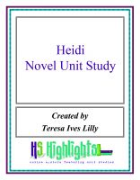Cover for 'Heidi Novel Unit Study'