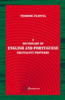 Cover for 'A Dictionary of English and Portuguese Equivalent Proverbs'