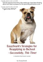 Cover for 'EssaySnark's Strategies for Reapplying to Bschool – Successfully, This Time!'