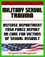 Cover for 'Military Sexual Trauma (MST) - Defense Department Task Force Report on Care for Victims of Sexual Assault'