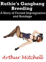 Cover for 'Ruthie's Gangbang Breeding: A Story of Forced Impregnation and Bondage'