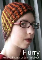 Cover for 'Flurry Short Row Hat Knitting Pattern'
