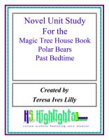 Cover for 'Novel Unit Study for the Magic Tree House Book Polar Bears Past Bedtime'