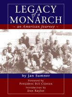 Cover for 'Legacy of a Monarch- an Amercian Journey'