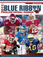Cover for 'Blue Ribbon College Football Yearbook'