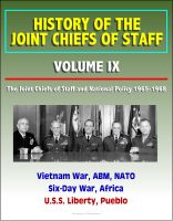 Cover for 'History of the Joint Chiefs of Staff - Volume IX: The Joint Chiefs of Staff and National Policy 1965-1968 - Vietnam War, ABM, NATO, Six-Day War, Africa, U.S.S. Liberty, Pueblo'