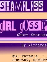 Cover for 'Shameless Girl Gossip Short Stories #3: Three's Company, Right?'