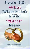 "Cover for '""Whoso Findeth A Wife"" What It Really Means'"