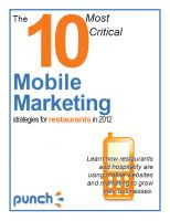 Cover for 'The 10 Most Critical Mobile Marketing Strategies for Restaurants in 2012'