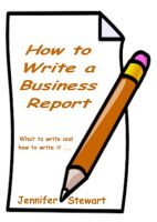 Cover for 'How to Write a Business Report'