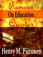 Cover for 'Famous Quotes on Education'