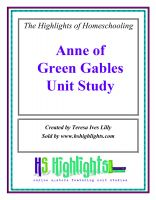 Cover for 'Anne of Green Gables Literature Unit Study'