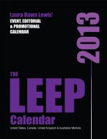 Cover for '2013 LEEP Calendar: Lewis' Event, Editorial & Promotional Calendar'