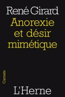 Cover for 'Anorexie et désir mimétique'