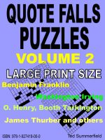 Cover for 'Quote Falls Puzzles. Volume 2.'