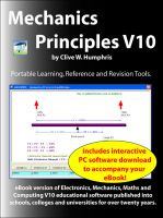 Cover for 'Mechanics Principles V10'