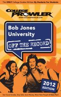 Cover for 'Bob Jones University 2012'