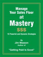 Cover for 'Manage Your Sales Floor at Mastery'