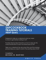 Cover for 'SAPCOOKBOOK Training Tutorials ABAP Query'