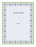 Cover for 'Giving Up Parker'