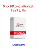Cover for 'Oracle DBA Concise Handbook'