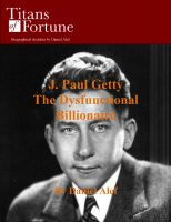 Cover for 'J. Paul Getty: The Dysfunctional Billionaire'