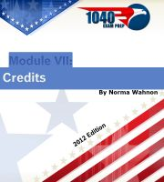 Cover for '1040 Exam Prep Module VII: Credits'