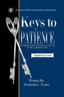 Cover for 'Keys to Patience: Understanding the Patience Factor in the Christian Life'
