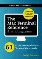 Cover for 'The Mac Terminal Reference and Scripting Primer'