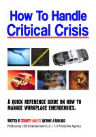 Cover for 'How to Handle Critical Crisis'