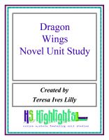 Cover for 'Dragonwings Novel Unit Study'