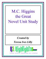 Cover for 'M.C. Higgins Novel Unit Study'