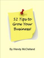 Cover for '52 Tips to Grow Your Business'
