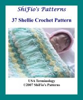 Cover for '37 Shelly Blanket Crochet Pattern #37'