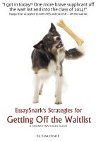 Cover for 'EssaySnark's Strategies for Getting Off the Waitlist'