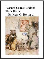 Cover for 'Learned Counsel and the Three Bears'