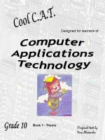 Cover for 'Computer Applications Technology - Grade 10'