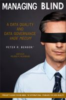 Cover for 'Managing Blind: A Data Quality and Data Governance Vade Mecum'