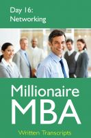 Cover for 'Millionaire MBA Day 16: Networking'
