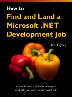 Cover for 'How to Find and Land a Microsoft .NET Development Job'