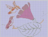 Cover for 'Pair of Hummingbirds and Flower Cross Stitch Pattern'