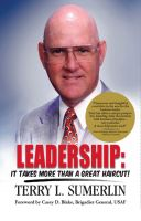 Cover for 'Leadership: It Takes More Than a Great Haircut!'
