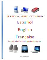 Cover for 'Trilingual Visual Dictionary. Technology in Spanish, English and French'