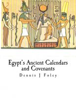 Cover for 'Egypt's Ancient Calendars and Covenants'