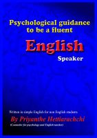 Cover for 'Psychological guidance to be a fluent English Speaker'