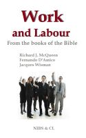 Cover for 'Work and Labour - From the books of the Bible'