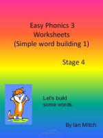 Cover for 'Easy Phonics 3 Worksheets (Simple word building 1)'