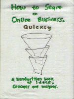 Cover for 'The handwritten book on how to start an Online Business: A collection of Ideas, Concepts and Insights'