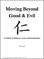 Cover for 'Moving Beyond Good and Evil: A Theory of Morality, Law, and Government'